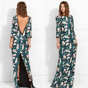 Rachel zoe sequin maxi dress floral size 6